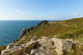 Zennor Head Cornwall England UK near St Ives on the South West Coast Path