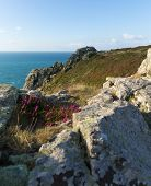 foto of st ives  - Zennor Head Cornwall England UK near St Ives on the South West Coast Path on the Penwith Heritage Coast - JPG