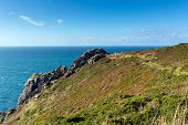 South West coast path Zennor Head Cornwall England UK near St Ives on the Penwith Heritage Coast