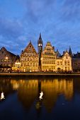 Picturesque medieval buildings, Ghent