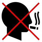 No smoking man vector icon