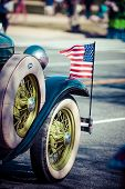 picture of parade  - Classic cars parade in Washington DC - JPG
