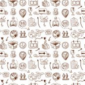 Logistic icons seamless pattern