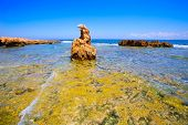 Denia Alicante Las rotas rocky beach in Spain and San Antonio Cape