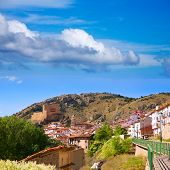 Alcala de la Selva in Teruel village near ski slopes of virgen de la Vega at Spain