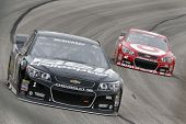 Fort Worth, TX - Apr 05, 2014:  Jamie McMurray (1) qualifies 15th for the Duck Commander 500 race at