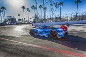 Long Beach, CA - Apr 11, 2014:  The Spirit of Daytona Corvette DP car goes on track for the TUDOR Un