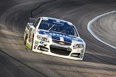 Fort Worth, TX - Apr 04, 2014:  Jimmie Johnson (48) brings his race car through the turns during a p