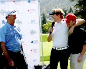 LOS ANGELES - APR 14:  Dennis Wagner, Jack Wagner, Tim Curren at the Jack Wagner Anuual Golf Tournam