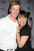 LOS ANGELES - APR 14:  Jack Wagner, Lori Loo at the Jack Wagner Anuual Golf Tournament benefitting L