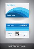 creative vector business card. front and back side