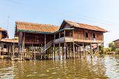 Inle lake floating village house