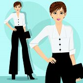 Smart and Beauty Career Woman