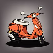stock photo of vespa  - The nice Modern Scooter vector design collection - JPG