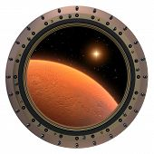Mars Spacecraft Porthole