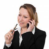 Businesswoman With E-cigarette
