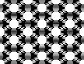 Design Seamless Monochrome Octagon Geometric Pattern