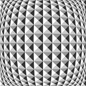 Design Monochrome Warped Geometric Pattern