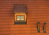 Dormer Window - Red Tile Roof