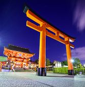 Fushimi Inari Taisha Shrine in Kyoto, Japan.