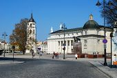 Vilnius Cthedral Place In Vilnius City On April 26, 2014