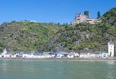 Sankt Goarshausen,Rhine River,Germany