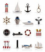 Marine, Sailing and Sea Icons