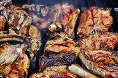 Grilled Lamb Ribs On Bbq Grate, Xxxl