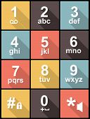 stock photo of keypad  - phone keypad Icons in Flat Design for Web and Mobile - JPG