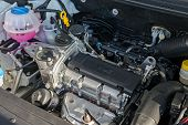 New Engine Of The Modern Car Skoda Rapid Closeup