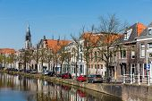 Cityscape Of Delft With Canal And Historic Houses, The Netherlands