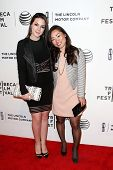 NEW YORK-APR 20: Producers Mia Chang (R) and Monica Aguirre Diez Barroso attend the