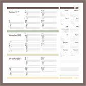 Vector Planner For 2015 -three Month Calendar