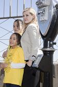 NEW YORK-APR 21, 2014: Actress & Project Sunshine Ambassador Abigail Breslin stands with unidentifie