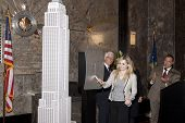 NEW YORK-APR 21, 2014: Actress & Project Sunshine Ambassador Abigail Breslin flips the switch to lig