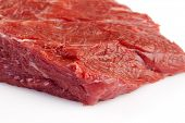 Fresh beef isolated on a white background.