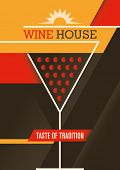 Modern wine house poster design. Vector illustration.