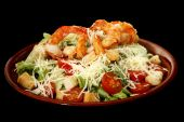Caesar Salad With Prawns