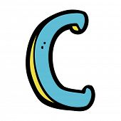 cartoon letter C