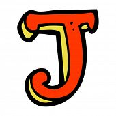 cartoon letter J