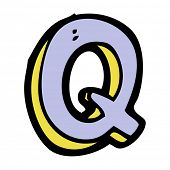 cartoon letter Q