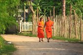 Monks in Luang Prabang Laos