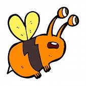 cartoon frightened bee