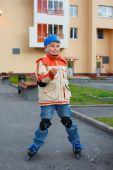 Boy On Roller Skates
