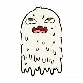 stock photo of grossed out  - gross cartoon ghost - JPG