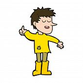 pic of attitude boy  - cartoon poor boy with positive attitude - JPG