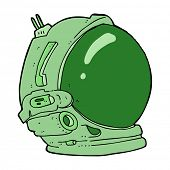cartoon astronaut helmet