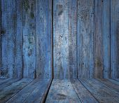 old wooden blue room