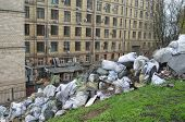 KIEV, UKRAINE - APR 19, 2014: Mass destruction after Putsch of Junta in Kiev. Kiev.April 19, 2014 Ki