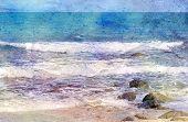 Aged sea shore